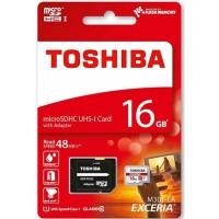 Κάρτα Μνήμης MicroSDHC UHS-I U1 Toshiba 16GB Class10 + Adaptor